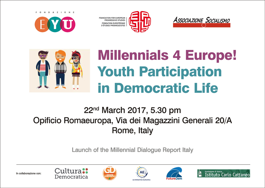 Millennials 4 Europe! Youth Participation in Democratic Life